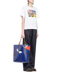 Marni | White T-shirt In Poplin Roger Mello Print for Men | Lyst