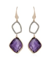 Monica Vinader | Purple Riva Amethyst Diamond Cocktail Earrings | Lyst