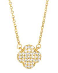Freida Rothman | Metallic 14k Vermeil Pave Clover Pendant Necklace | Lyst