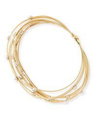 Marco Bicego - Metallic Goa Multi-strand 18k Yellow Gold Diamond Bracelet - Lyst