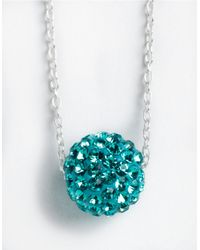 Lord & Taylor | Blue Sterling Silver Floating Crystal Ball Pendant Necklace | Lyst