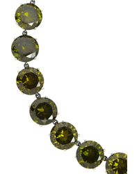 Bottega Veneta | Green Oxidized Sterling Silver Cubic Zirconia Necklace | Lyst