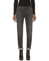 Stella McCartney | Black Embroidered The Skinny Boyfriend Jeans | Lyst