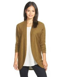 Eileen Fisher | Metallic Oval Merino Cardigan | Lyst