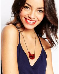 Tatty Devine - Brown Robin Necklace - Lyst
