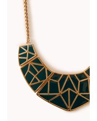Forever 21 | Green Standout Geo Bib | Lyst
