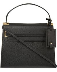 Valentino | Black My Rockstud Grained Leather Satchel | Lyst