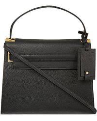 Valentino | Black My Rockstud Grained Leather Satchel | Lyst