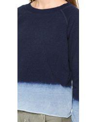Bliss and Mischief   Blue Carolina Sweatshirt - Dip Dye Indigo   Lyst
