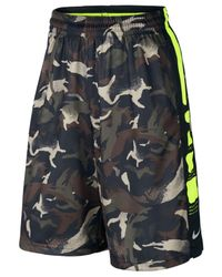 Nike | Black Men's Elite Striped Camo Dri-fit Basketball Shorts for Men | Lyst