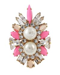 Shourouk | Lady Woolit Pink Ring | Lyst
