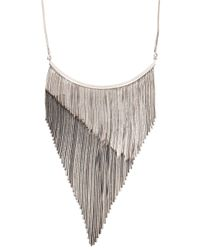 Iosselliani | Metallic Fringed Silver-plated Necklace | Lyst