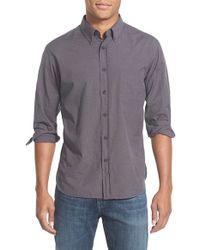Billy Reid - Gray 'john T' Standard Fit Check Sport Shirt for Men - Lyst