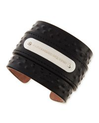 Alexander McQueen | Black Mens Covered-stud Leather Cuff for Men | Lyst