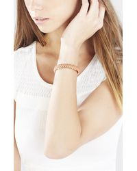 BCBGMAXAZRIA - Orange Corded Chain Cuff - Lyst