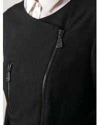 McQ - Black Asymmetric Zipped Jacket - Lyst