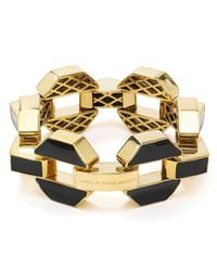 Marc By Marc Jacobs - Black Enamel Bolt Link Bracelet - Lyst