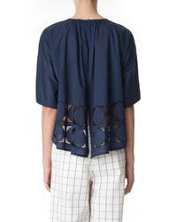 Tibi | Blue Mosaic Embroidered Kimono Top | Lyst