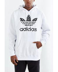 Adidas Originals - White Star Filled Pullover Hoodie Sweatshirt for Men - Lyst