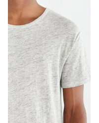 Alternative Apparel | Gray Linen Curve Hem Crew Neck Tee for Men | Lyst