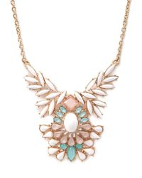 Forever 21 | Multicolor Clustered Faux Stone Bib Necklace | Lyst