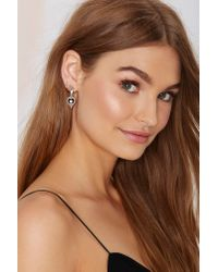 Nasty Gal | Metallic Jenny Bird Nova Orb Sterling Silver Drop Earrings | Lyst