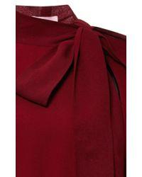Giamba - Red Stretch Cady Bow Neck Dress - Lyst
