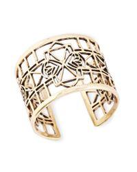 Lucky Brand - Metallic Goldtone Openwork Cuff Bracelet - Lyst
