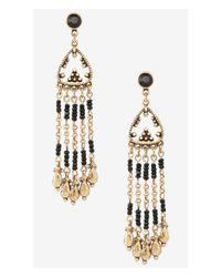 Express - Metallic Seedbead Fringe Post Drop Earrings - Lyst