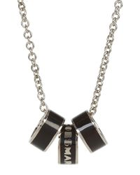 Marc By Marc Jacobs - Metallic Sweetie Rings Silver Tone Necklace - Lyst