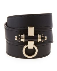 Givenchy - Black Obsedia Triple-wrap Leather Bracelet - Lyst