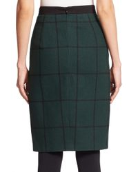 Akris Punto - Black Windowpane Zip-front Skirt - Lyst