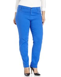 James Jeans - Blue Plus Size Twiggy Z Cigarette Leg Jeans - Lyst