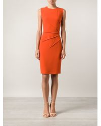 Narciso Rodriguez - Red Fitted Dress - Lyst