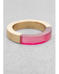 & Other Stories | Pink Semi Transparent Ring | Lyst