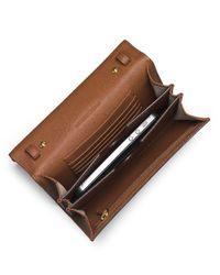 MICHAEL Michael Kors | Brown Jet Set Leather Large Travel Phone Crossbody | Lyst