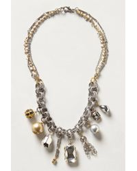Anthropologie | Metallic Teensy Treasures Necklace | Lyst