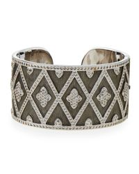Jude Frances | Metallic Michelle Wide Flower Cuff | Lyst