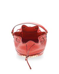 Moschino - Quilted Letters Bucket Bag In Red - Lyst