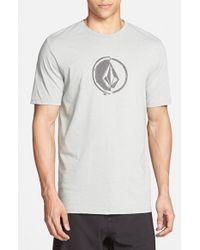 Volcom - Gray 'Stacking' Surf Crewneck T-Shirt for Men - Lyst