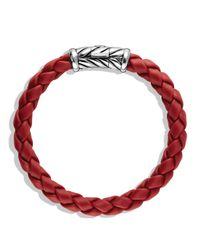 David Yurman - Metallic Chevron Bracelet In Red for Men - Lyst