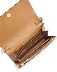Tory Burch - Brown Robinson Wallet-on-chain - Lyst