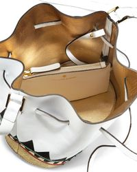 Les Petits Joueurs - White Daliah Leather Bucket Bag - Lyst