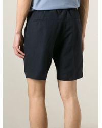 Emporio Armani - Blue Bermuda Shorts for Men - Lyst