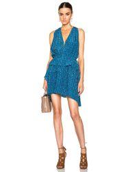 10 Crosby Derek Lam | Blue Medallion Floral Dress | Lyst
