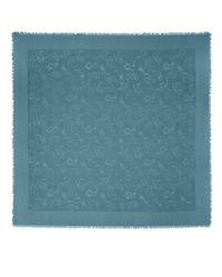 Jimmy Choo - H6s071480 Blue Medium Silk And Wool Scarf - Lyst
