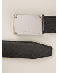 Givenchy - Black Logo Plaque Belt - Lyst