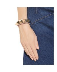 Valentino | Metallic Rockstud Leather Bracelet | Lyst