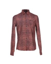 Guess - Brown Shirt for Men - Lyst