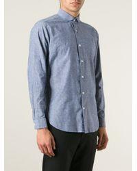 The Gigi - Blue Peter Pan Collar Shirt for Men - Lyst